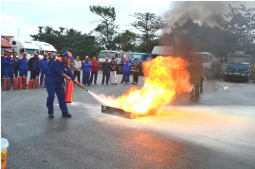 Huấn luyện sử dụng bình chữa cháy