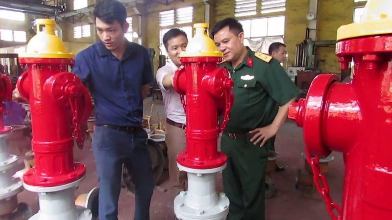 BAT tham quan xưởng sản xuất trụ cứu hỏa của Bộ Quốc Phòng