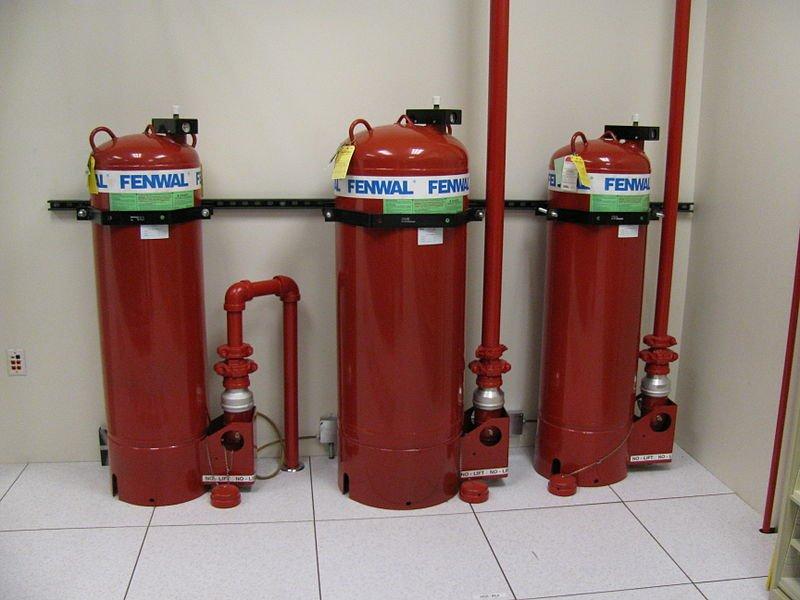 hệ thống 3 bình chứa khí FM200