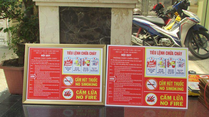 Biển cấm trong tiêu lệnh chữa cháy đóng vai trò rất quan trọng