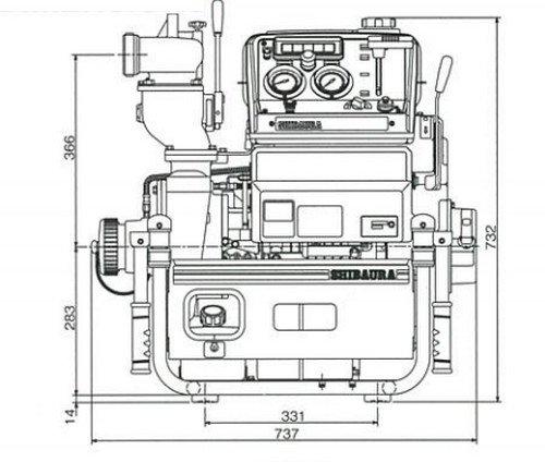 Máy bơm chữa cháy Shibaura FT500-A/FT450-A