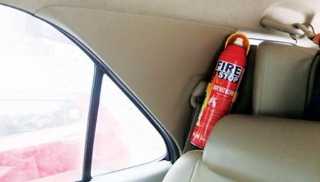Bình cứu hỏa Fire Stop được trang bị trên ô tô