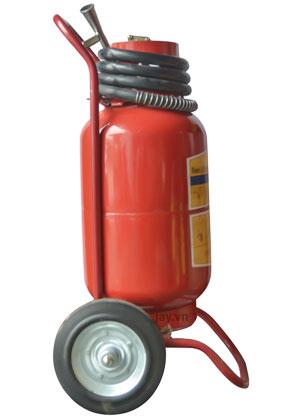 Hình ảnh bình bột chữa cháy xe đẩy