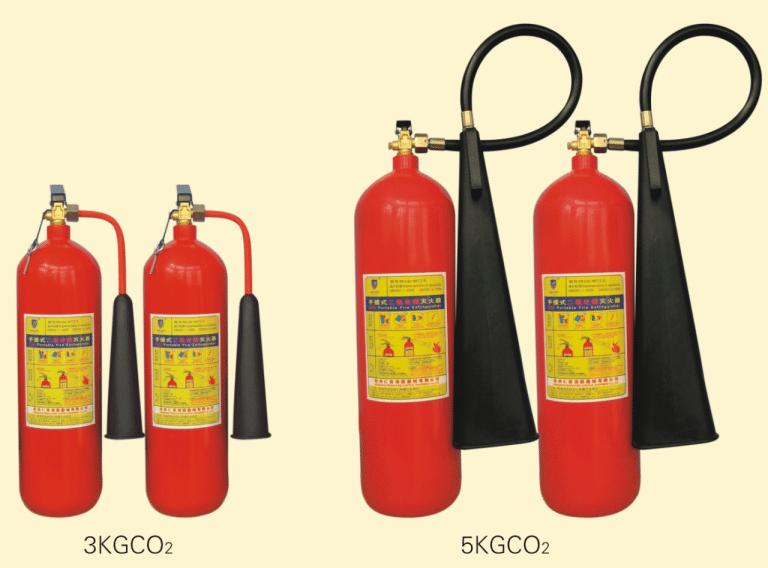 Các loại bình chữa cháy dạng khí CO2